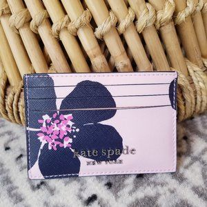 Small Slim Card Holder Kate Spade Grand Flora Pink